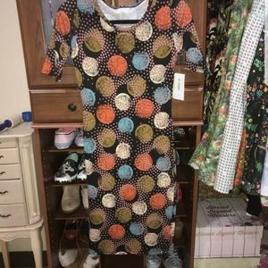 NWT lularoe julia ploka dot dress size xxs.